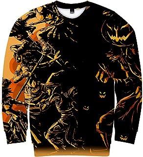 Kehen Women 3D Fashion Paper Cup Graffiti Crewneck Tank Halloween Sweatshirt Shirt Collection