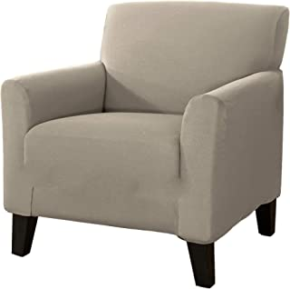 Home Fashion Designs 1-Piece Spandex Slipcover Dawson Collection. (Chair, Silver Cloud)