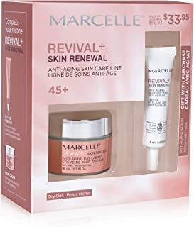 Marcelle Revival+ Skin Renewal Anti-Aging Day Cream - Dry Skin + Anti-Aging Redensifying 360░ Serum Gift Set