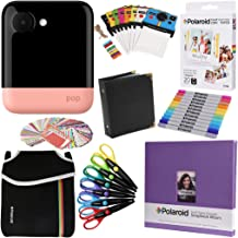 Polaroid POP 2.0 Instant Camera (Pink) Gift Bundle + Zink Paper (20 Sheets) + 8x8 Cloth Scrapbook + Pouch + 6 Edged Scissors + 100 Sticker Border Frames + Markers + Hanging Frames + Album