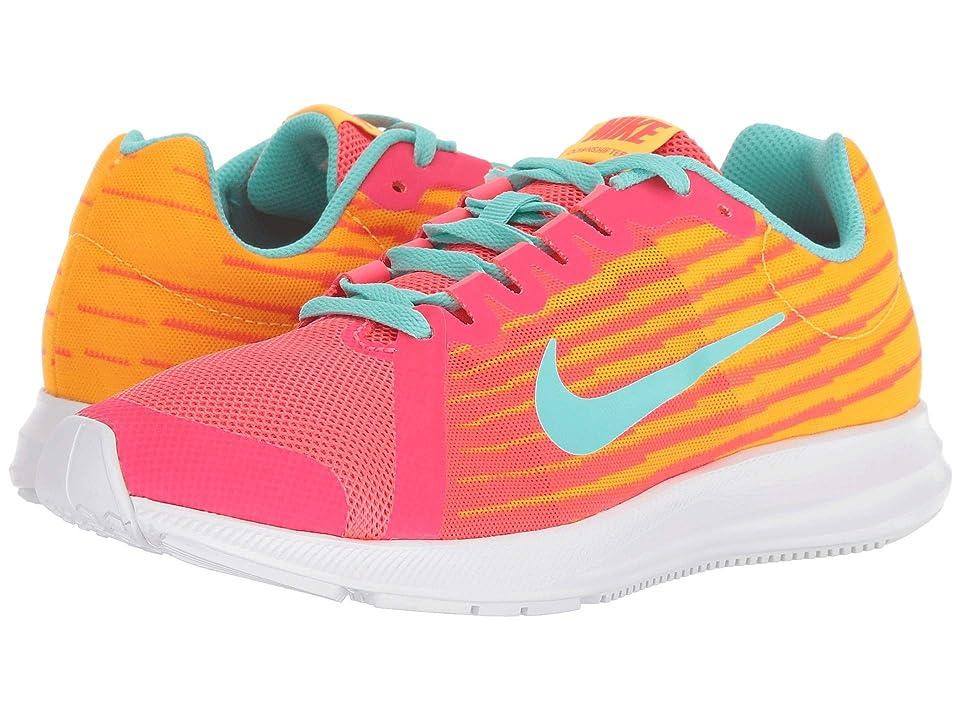 Nike Kids Downshifter 8 Fade (Big Kid) (Solar Red/Aurora Green/Laser Orange) Girls Shoes
