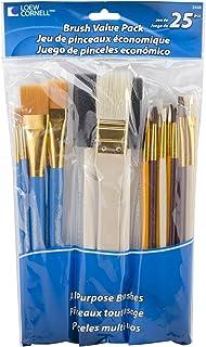 Loew-Cornell 245B Brush Set, Pack of 25, Multi Color