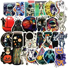 Homyu Stickers Pack 50-Pcs Decals of Astronaut Space Man Stickers Decals for Cars Motorcycle Portable Luggages Ipad Laptops Waterproof Sunlight-Proof