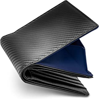 [ Number7 ] 財布 2つ折り メンズ カーボン レザー