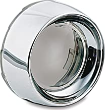 Kuryakyn 2107 Motorcycle Lighting Accessory: Deep Dish Bezel for 2000-19 Harley-Davidson Motorcycles with Bullet Turn Signal/Blinker Lights, Smoke Lens, Chrome, 1 Pair