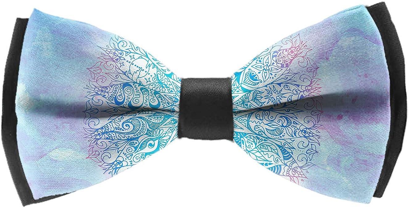 Elegant Adjustable Pre-tied bow ties for Men Boys Geometric Mandala Pattern