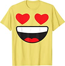 Heart Eyes Face Emoji Easy Lazy Group Halloween Costume T-Shirt