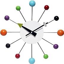 Infinity Instruments Orb Spoke Midcentury Modern 15 inch Retro Starburst Ball Wall Clock Quiet Quartz Movement Mid Century...