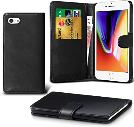 Apple iPhone 6 Plus Case, iPhone 6S Plus Case, DN-TECHNOLOGY® iPhone 6Plus/6S Plus Phone Cover, High Quality Leather [Flip Case][Stand Case] [Book Wallet Case] [Full Body Case] [Card Holder Case] [Shockproof Case] [Back Cover][Leather Wallet Case] With ID Holder Case For Apple iPhone 6S Plus/ 6 Plus (Compatible With iPhone 6Plus/6S Plus Screen Protector) (BLACK)