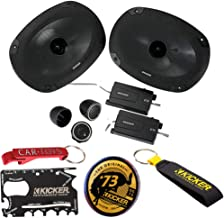 $159 » Kicker 46CSS694 Car Audio 6x9 Component Full Range Stereo Speakers Set CSS69 with Kicker Swag Bag. Extended Voice Coil Tec...