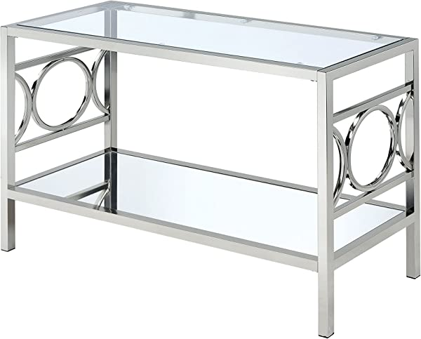 HOMES Inside Out IoHOMES Ortencia Chrome O Ring Frame Side Table Chrome