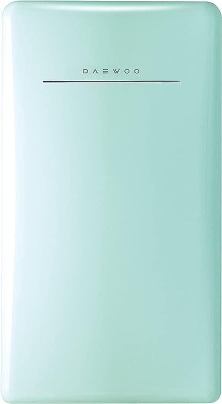 Daewoo FR 044RCNM Retro Compact Refrigerator 4 4 Cu Ft Mint Green