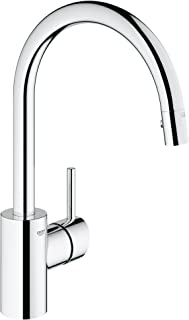 Grohe 32665001 Concetto Single-Handle Pull-Down High Arc Kitchen Faucet, 1.75 GPM, Starlight Chrome