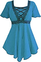 Dare to Wear Angel Corset Top: Victorian Gothic Grecian Women's Empress Blouse for Everyday Halloween Cosplay Festivals