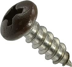 Hard-to-Find Fastener 014973208707 Brown Phillips Pan Sheet Metal Screws, 8 x 1/2, Piece-100