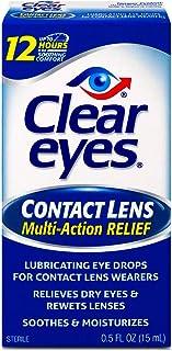 چشمان پاک | قطره های چشمی تسکین دهنده چند منظوره لنز | 0.5 FL OZ