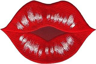 Roter Kussmund Lippenstiftabdruck Grusskarte 9