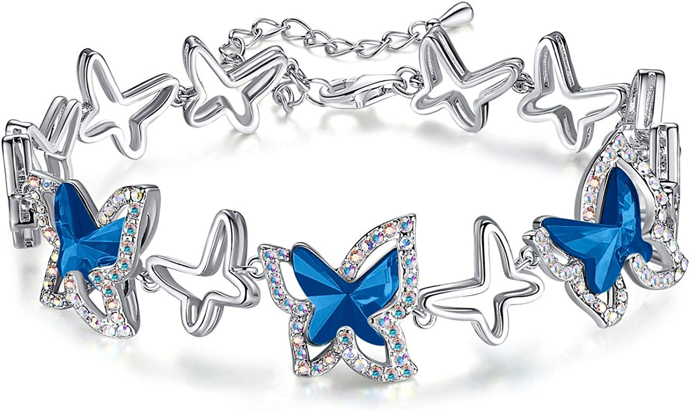 GEMMANCE Butterfly Ranking TOP2 2021 Link Charm Bracelet Birthstone with Premium C