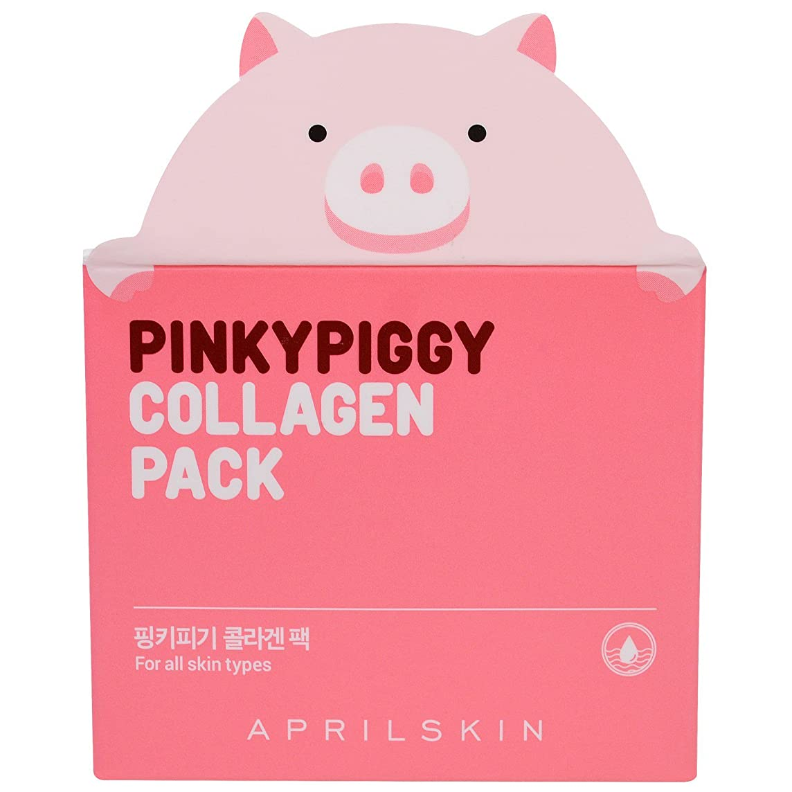 輝度変化するリレーAPRIL SKIN Pink Piggy Collagen Pack (並行輸入品)