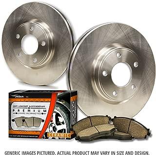 (Front Kit)2 OEM Replacement Great-Life Premium Disc Brake Rotors + 4 Ceramic Pads(Works with Transit Connect)(5lug)-Combo Brake Kit