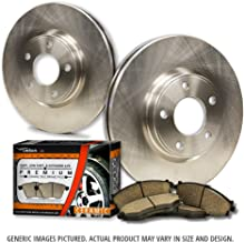 (Front Kit)2 OEM Replacement Extra-Life Heavy Duty Brake Rotors + 4 Ceramic Pads(Works with Toyota)(6lug)-Combo Brake Kit