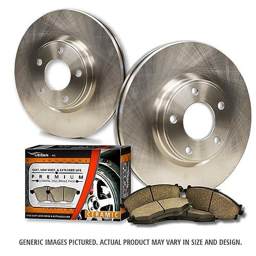 Fits: 2014 14 2015 15 Toyota Tundra and Rear Max Brakes Front /& Rear Elite Brake Kit KT043503 E-Coated OE Rotors + Ceramic Pads
