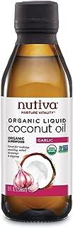 Nutiva Oil Coconut Garlic Liquid, 8 Fl Ounce