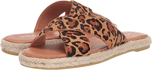 Tan Leopard Pony Leather