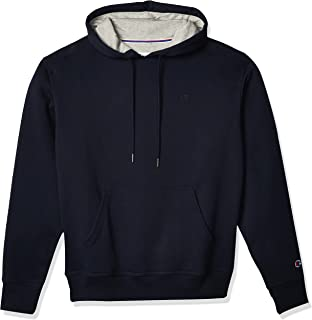 Champion Men's Powerblend Fleece Hoodie, C Logo