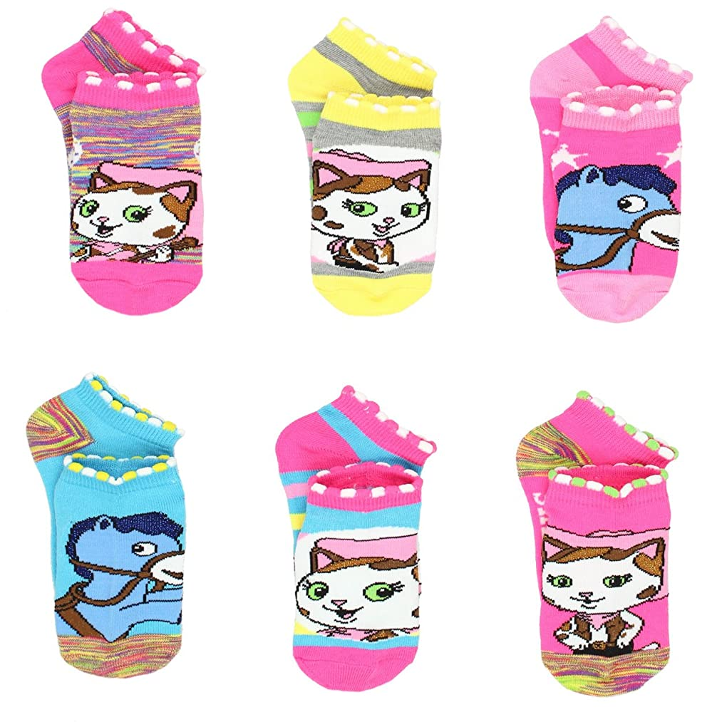 Sheriff Callie's Wild West Girls 6 pack Socks (Toddler/Little Kid)