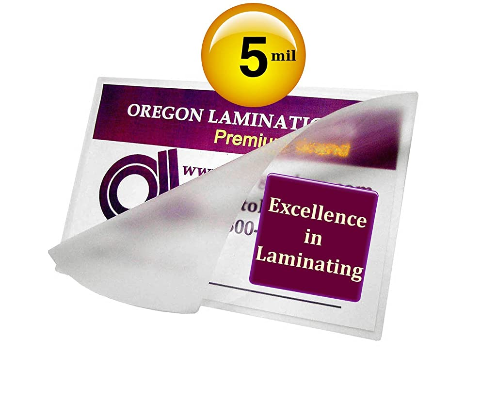 5 Mil Hot 3 x 4 Laminating Pouches Hunting & Fishing License [Pack of 50] 3x4 Clear