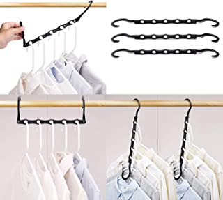 HOUSE DAY Black Magic Hangers Space Saving Clothes Hangers Organizer Smart Closet Space Saver...