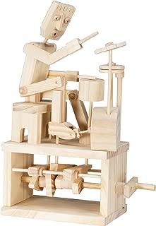 Timberkits - Drummer - Mechanical Wooden Construction Kit