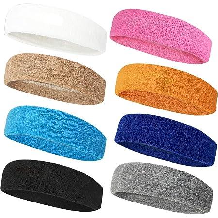 1# ZOOMY Sport Fascia per Capelli Elastico Antiscivolo Accessori per lesercizio di Yoga Colore della Caramella Uomo Donna