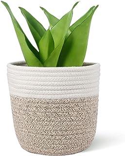 "Oradrem Cotton Rope Plant Basket Modern Woven Basket for 6"" Flower Pot Floor Indoor Planters,Rustic Home Decor Storage Org..."