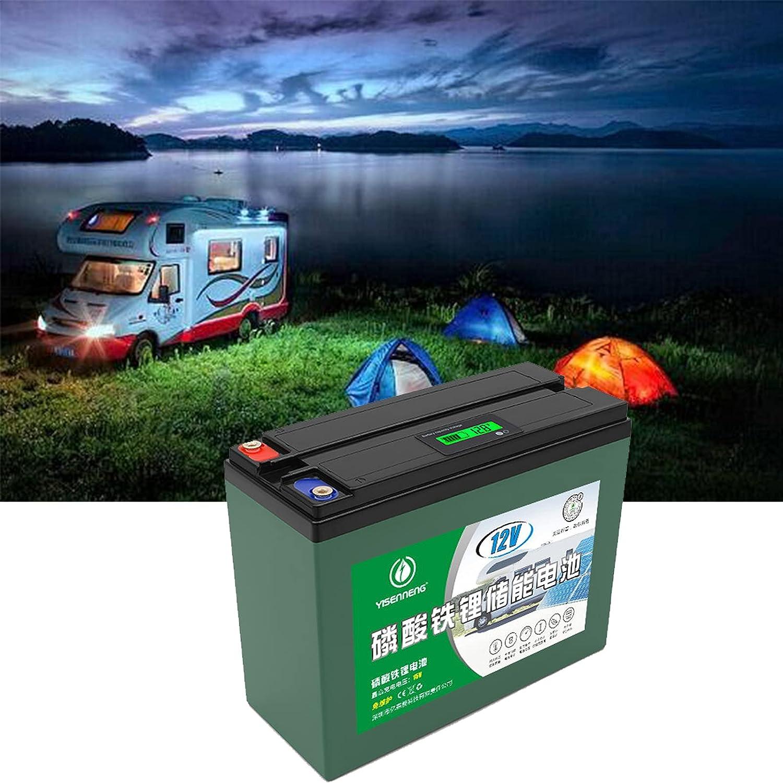 Bateria Solar Portatil, 12V 36AH 2000+ Ciclos Vida útil de 5 Años Carga Solar LiFePO4 Batería de Ciclo Profundo para RV Cámping Caravana Solar Bote Inicio Almacenamiento,12v 36ah,1pcs