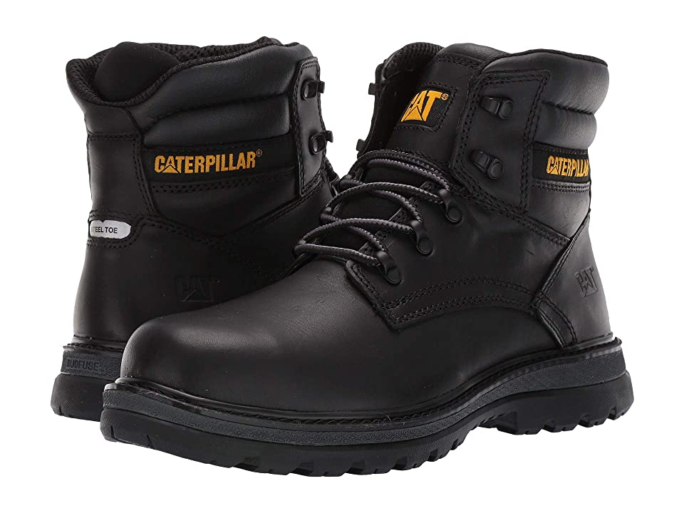 Caterpillar Fairbanks Steel Toe (Black Leather) Men