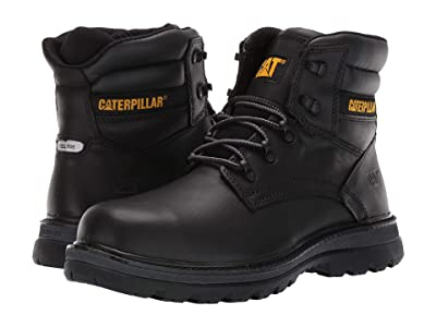 Caterpillar Fairbanks Steel Toe (Black Leather) Men