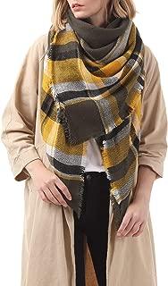 Thick Tartan Scarf Oversized Blanket Soft Warm Shawl Classic Plaid For Women
