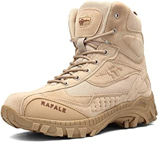 YIRUIYA Men's Outdoor Military Tactical Ankle Boots Combat Hiking Boots