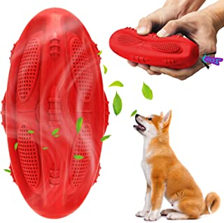 Ditucu Squeaky Dog Toy for Aggressive Chewers,Indestructible Tough Durable Chew Tooth Cleaning Rubber Interactive Bite Foo...