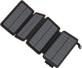 comprar comparacion A ADDTOP Cargador Solar 25000mAh, Power Bank Portatil Batería Externa de 2 Puertos para iPhone, iPad, Samsung Galaxy, Huaw...
