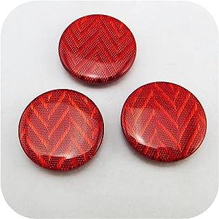 Botões para costura, 20 pcs 21mm botão vermelho decoração tingido de resina de resina botões de vestuário casaco de vestuá...