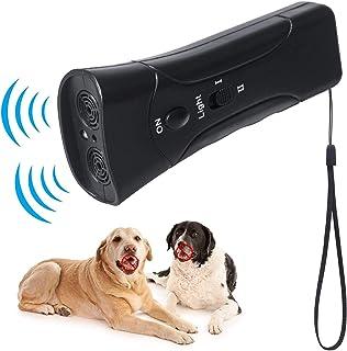 犬の訓練器具 超音波式 無駄吠え防止装置 愛犬しつけ用グッズ 室内外使用可能 ペットの訓練ツール 全種類犬使用 2つ周波数モード 調整可能 LEDライト 照明可能 赤外線放射 動物攻撃を停止 携帯便利 安全無害 近隣トラブル 睡眠妨害防止