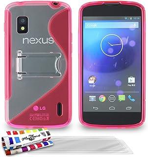 ' Muzzano 保护套适用于 Lg Nexus 4 粉红色3D屏保 Pink + 3 Screen Protectors