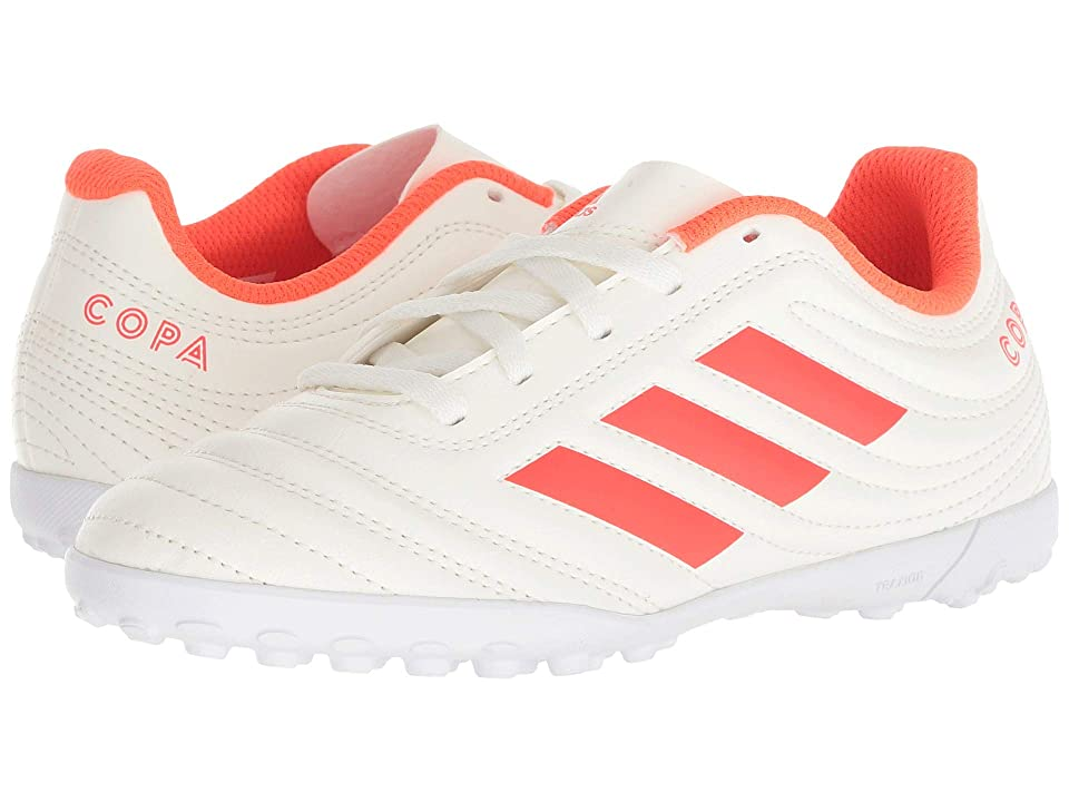 adidas Kids Copa 19.4 TF Soccer (Little Kid/Big Kid) (Off-White/Solar Red/White) Kids Shoes