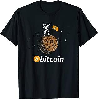 Bitcoin BTC Crypto to the Moon Dabbing Shirt With Astronaut