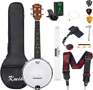 Sponsored Ad – Kmise Banjolele Concert Banjo Ukulele 4 String 23 inch Banjos with Gig Bag Tuner Pickup Multifunctional Str...