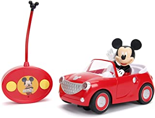 "Jada Toys Disney Junior Mickey Mouse Clubhouse Roadster RC Car, 7"" Red"