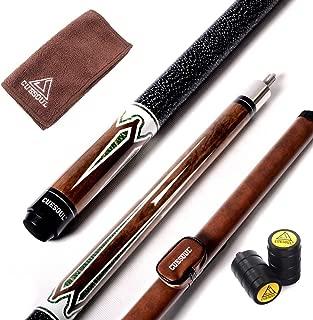 CUESOUL 58 Inch 2-Piece Maple Billiard Stick Pool Cue 19oz/21oz,11.5mm/13mm Tip[Weight Adjustable]